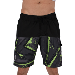 Men Funky Shorts L [Black/Print]