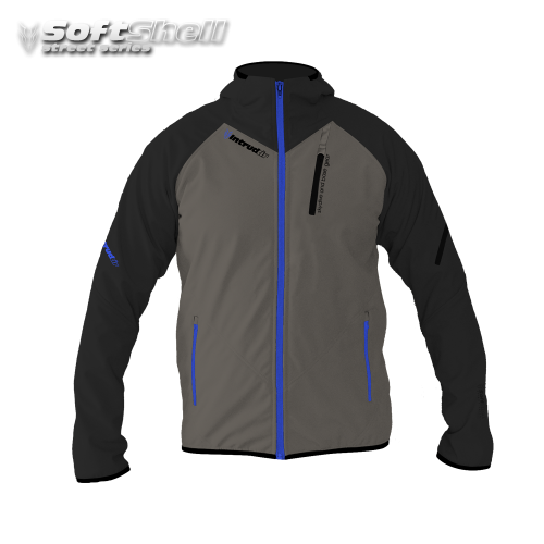 Softshell Jacket Black/Dust/Blue [Hood]