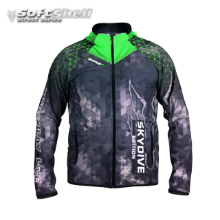 Softshell Jacket Green Printed [Hood] PRE-Order