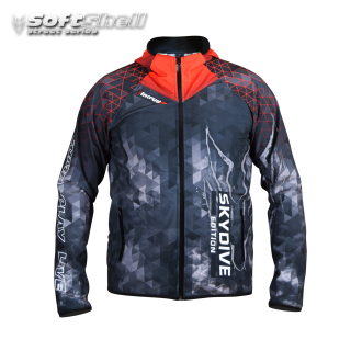 Softshell Jacket Red Printed [Hood] PRE-ORDER