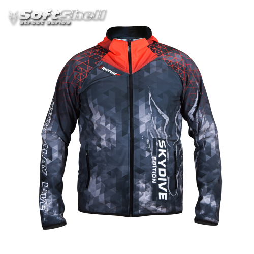 Softshell Jacket Red Printed [Hood]