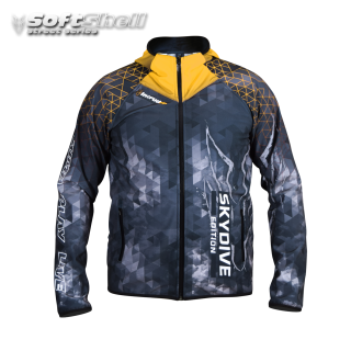 Softshell Jacket Yellow Printed [Hood] PRE-ORDER
