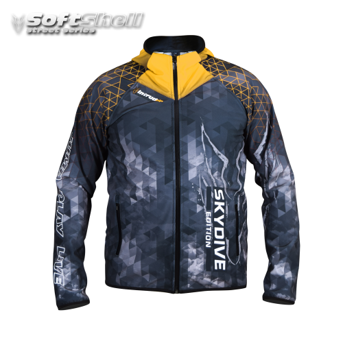 Softshell Jacket Yellow Printed [Hood]