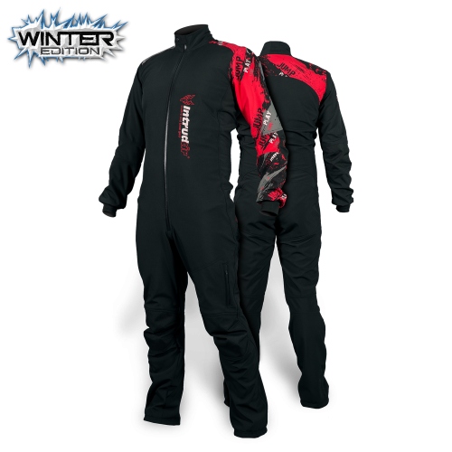 Winter Softshell Suit Black/Red Print