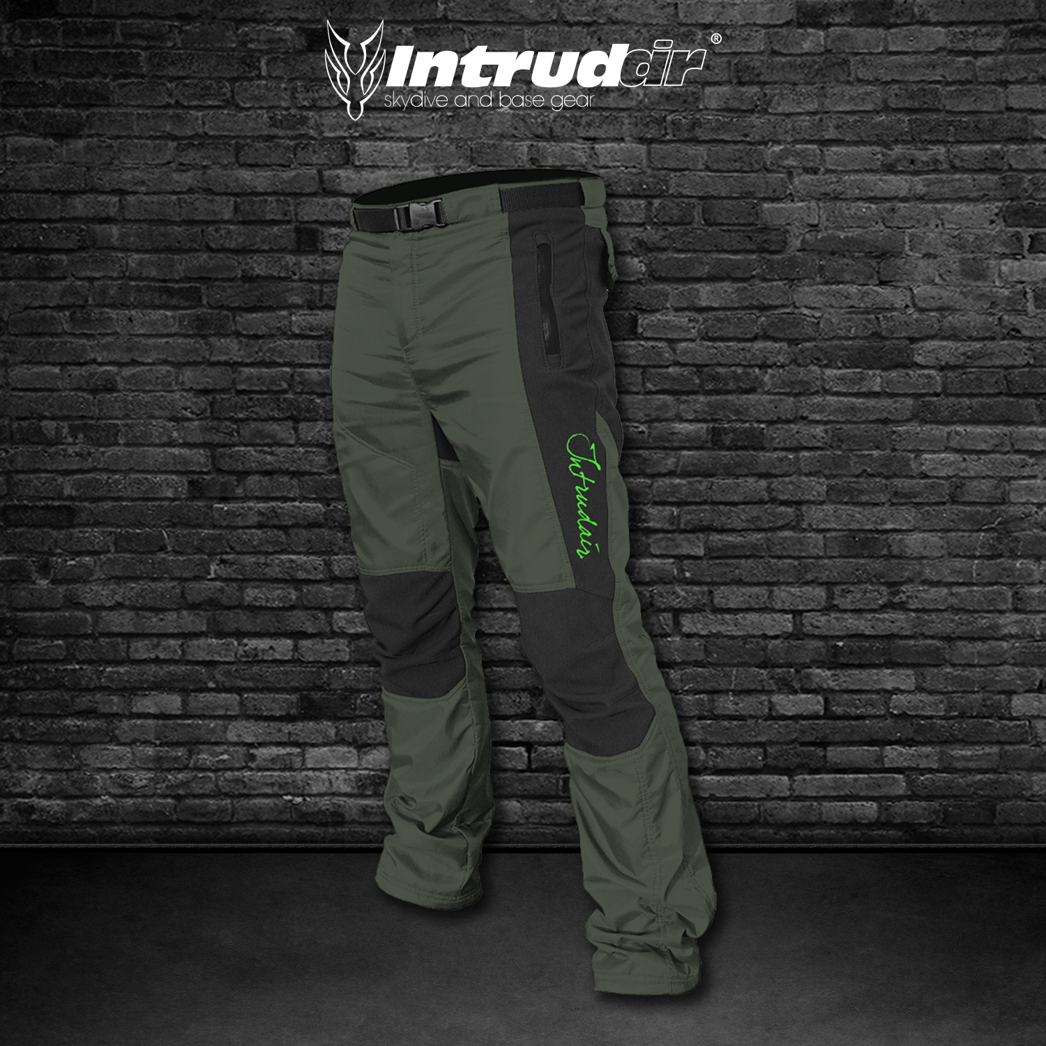 Technical (Winter) Pants Black/Olivegreen