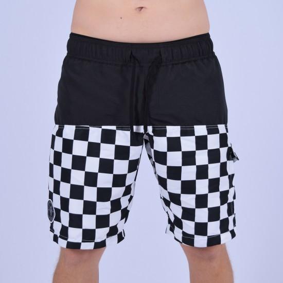 Men Funky Shorts M [Black/Print]