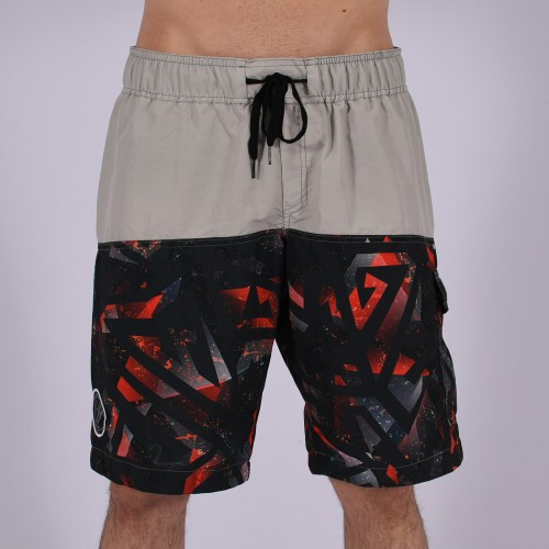 Men Funky Shorts XL [Grey/Print]