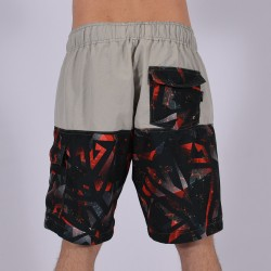 Men Funky Shorts XL [Grey/Print]