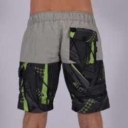 Men Funky Shorts M [Grey/Print]