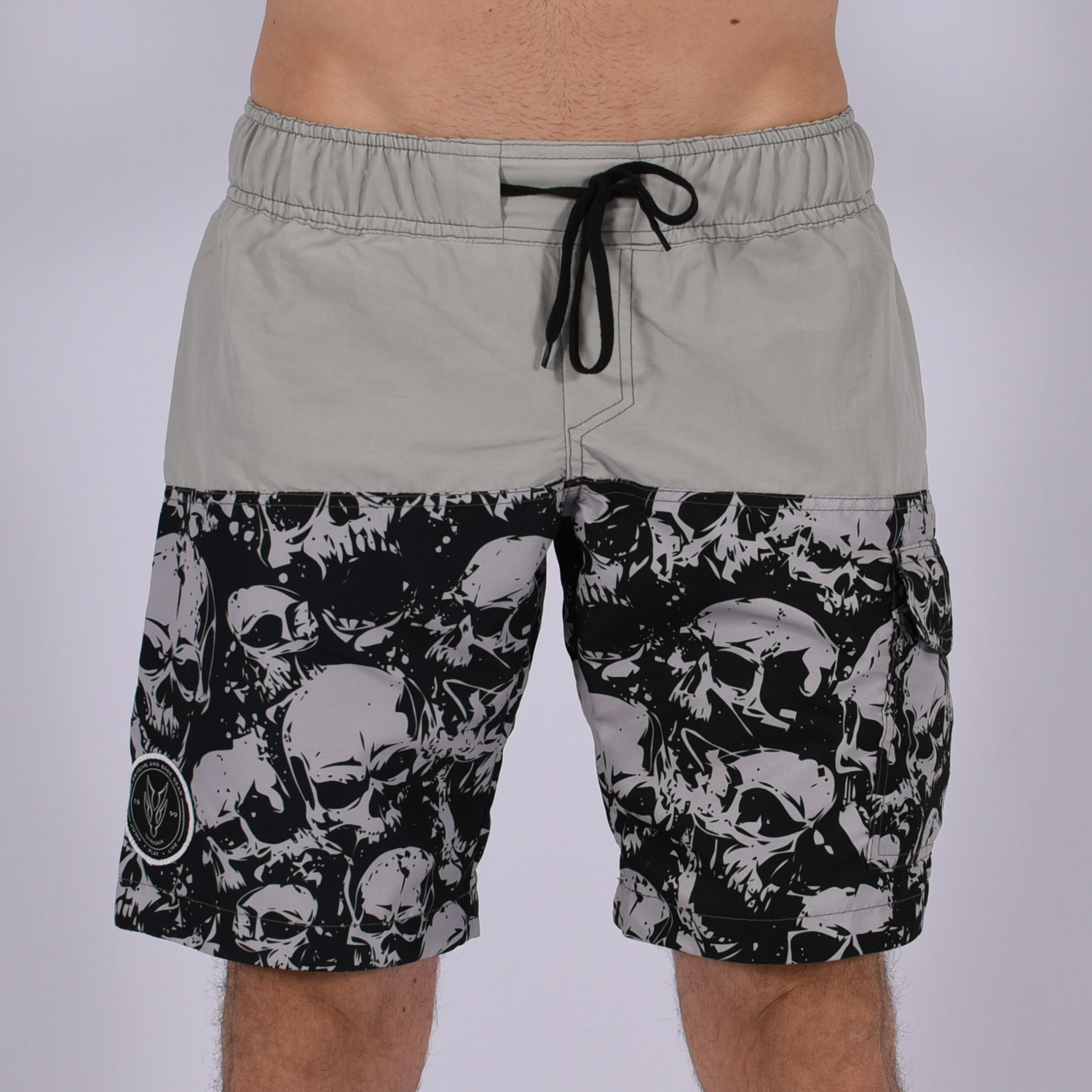 Men Funky Shorts S [Grey/Print]