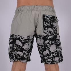 Men Funky Shorts S [Grey/Print]