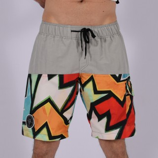 Men Funky Shorts M [Grey/Print]