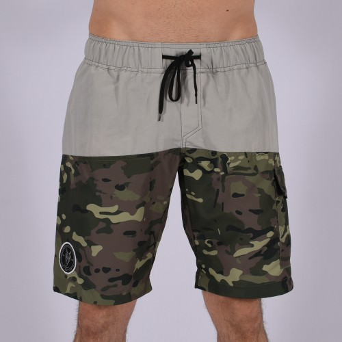 Men Funky Shorts L [Grey/Print]