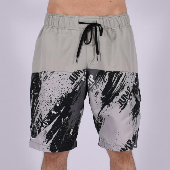 Men Funky Shorts L [Grey/Print]