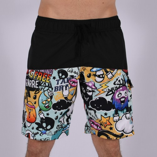 Men Funky Shorts M [Black/Print]