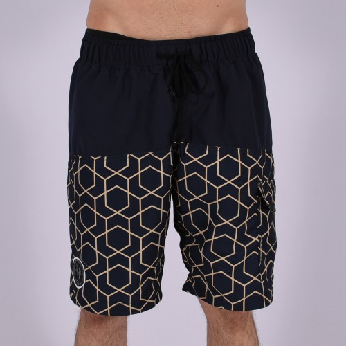 Men Funky Shorts XL [Black/Print]