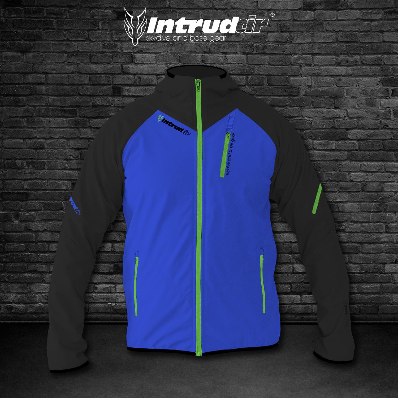 Softshell Jacket Blue/UV Lime [Hood]