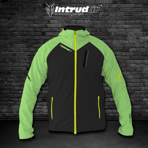 Softshell Jacket Black/UV Lime/Yellow [Hood]