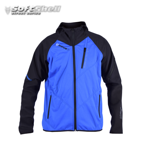Softshell Jacket Blue/Black [Hood]