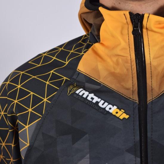Softshell Jacket Yellow Printed [Hood]