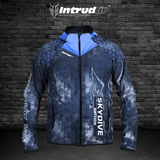Softshell Jacket Blue Printed [Hood]