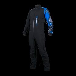 Winter Softshell Suit Black/Blue Print