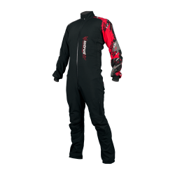 Winter Softshell Woman Suit Black/Red Print